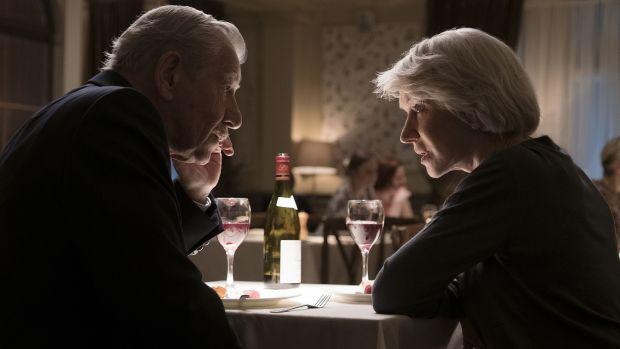 With Ian McKellen in The Good Liar. Photograph: Warner Bros