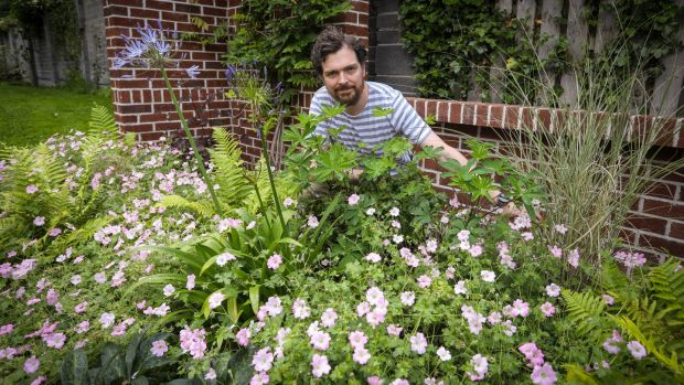 Adam Bermingham in his Flemingstown Park, Churchtown, garden. Photograph: Crispin Rodwell/The Irish Times