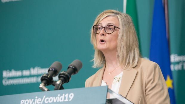 Assistant Secretary to the Department of An Taoiseach Liz Canavan during a media briefing earlier this month. Photograph: Gareth Chaney/Collins