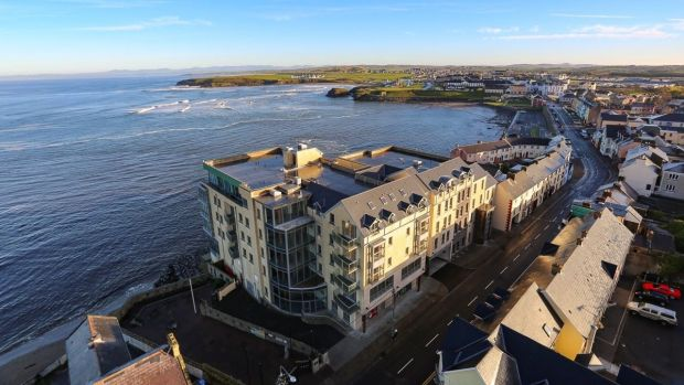 Conlan & Barrett Auctioneers are guiding €140,000 for a two-bed apartment at the Eden Bay scheme in Bundoran.