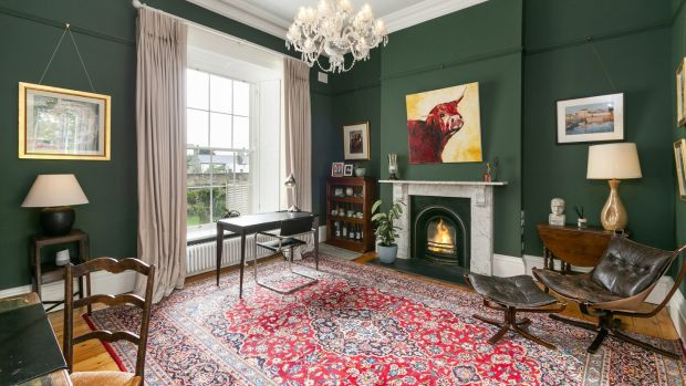 Rear reception room of 8 Crosthwaite Park East: fine period house on a grand old square