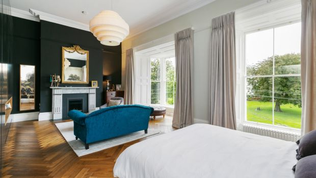 Main bedroom of 8 Crosthwaite Park East: fine period house on a grand old square