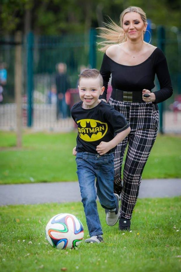 Monica Walsh with her son Dylan (11).