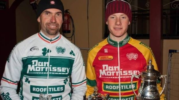 Martin O'Loughlin and Sam Bennett after a 1-2 in the Frank O'Rourke Memorial in Camross, Wexford in 2008.