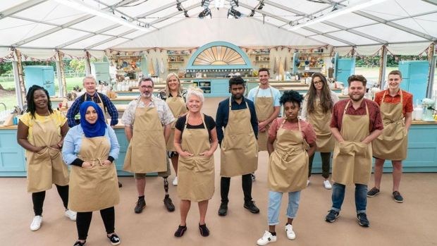 The new socially distanced crew of The Great British Bake Off