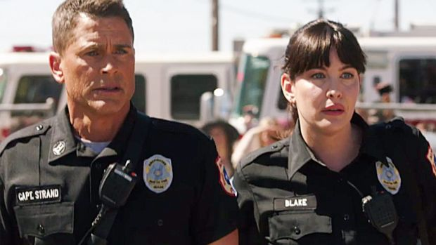 Rob Lowe and Liv Tyler in 9-1-1: Lone Star