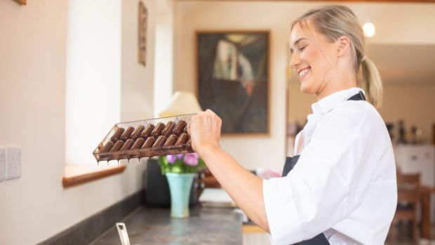 Grainne Mullen launched Grá Chocolates after work as a pastry chef dried up. 'It is really nice to be doing something you are passionate about and something you love and I love chocolate.' Photograph: Katie Moran