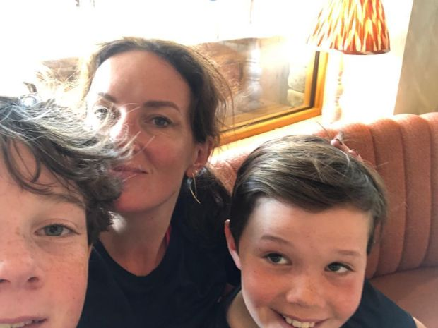 Ciara Kelly and two of her sons