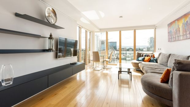 Interior of a penthouse at Hanover Dock in Dublin 2