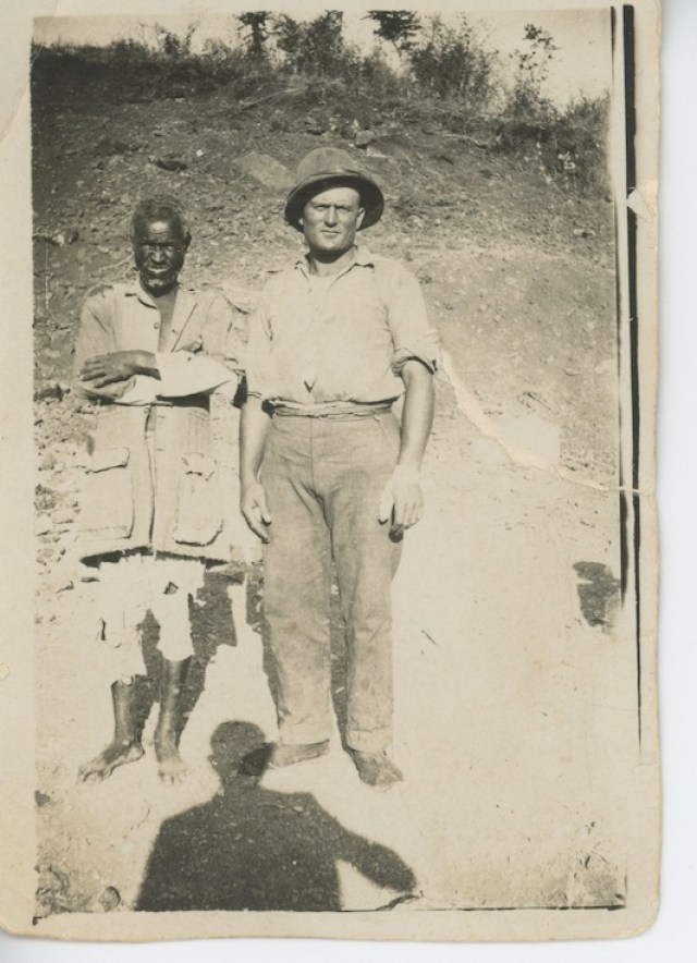 """An East African man and an Italian: """"I could make an informed guess that this image was made after the October 1935 invasion."""""""