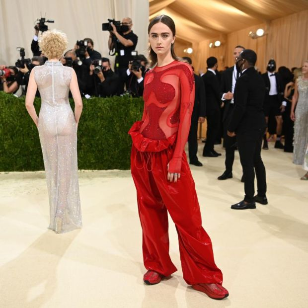 Ella Emhoff at the Metropolitan Museum of Art's Costume Institute benefit gala in New York, Sept. 13, 2021. (Nina Westervelt/The New York Times)