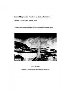 New Issue of Irish Migration Studies in Latin America