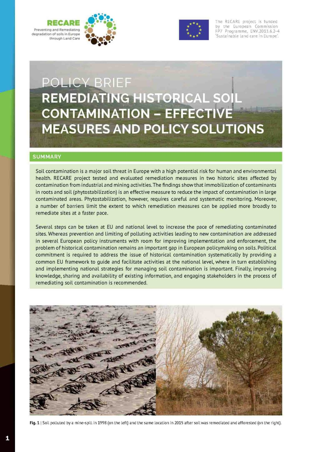 medium resolution of  study sites guadiamar spain and cop a mic romania and other previous studies a set of recommendations for contaminated soils in europe have been