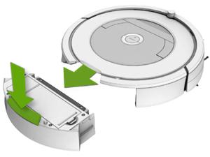 Depósito robot aspirador Roomba recambios instrucciones