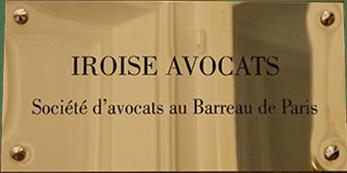 Plaque du Cabinet Iroise Avocats-société d'avocats au Barreau de Paris