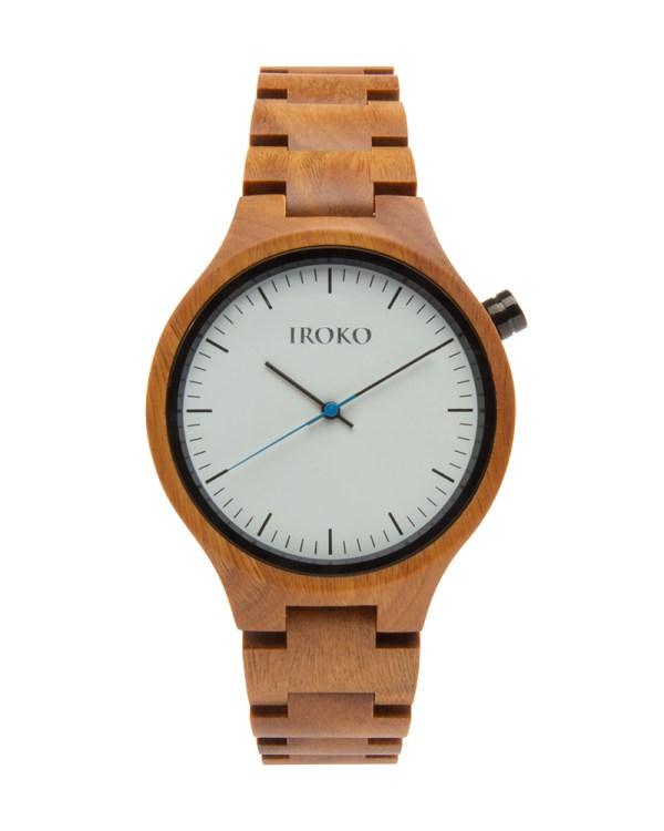 reloj de madera Terral Iroko