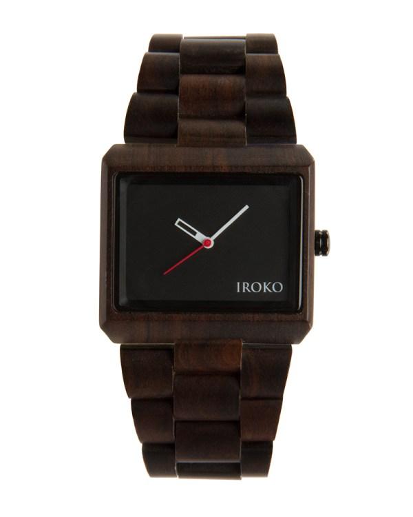reloj de madera Siroko Iroko