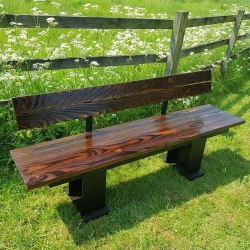 A comfortable wooden bench can make your garden look magical