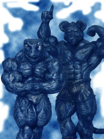 Bodybuilding Figurines  Bodybuilding Sculptures  Bodybuilding Art by artist Gerald Gore from