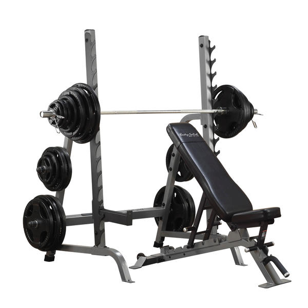 Commercial Bench Squat Rack Combo Package Body Solid