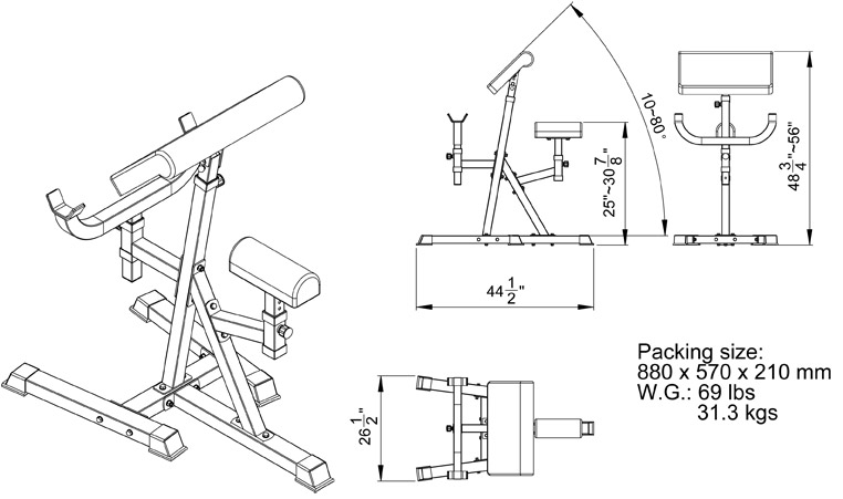 pin curl diagram apollo rocket standing arm preacher bench with pivoting pad -- valor fitness (cb-11)