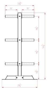 Valor Fitness BH-17 Bumper Plate Tree - Vertical Bumper ...