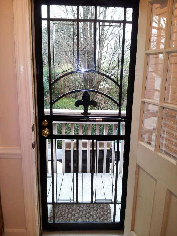 Iron Fleur De Lis Entry Door