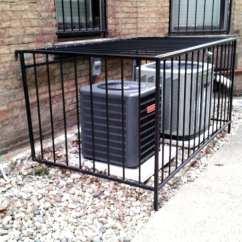 Air Conditioner Cage Vivint Thermostat Wiring Diagram Ac Unit Enclosures  Iron Crafters Llc
