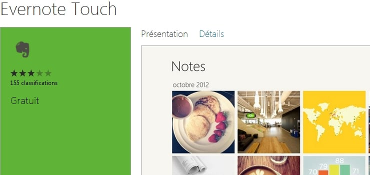 evernote touch windows 8 RT