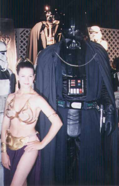 Another charming picture from the Star Wars Party. Natalie Greco wearing her