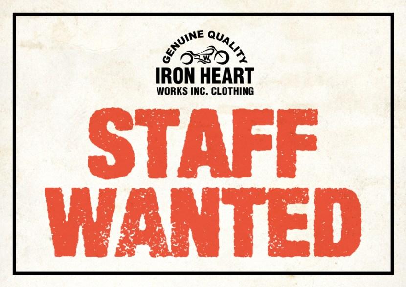 IRON HEART STAFF WANTED