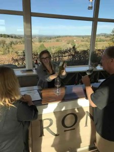 iron Hub Winery Tasting Room Pouring