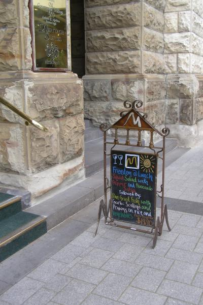 Ironic Art Products 4 Menu Stands  Footpath Signs
