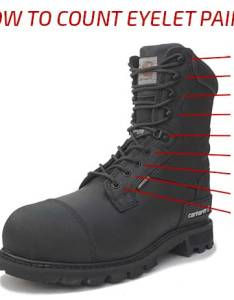 How many eyelets or holes are on your shoes count total you have and ide by two  down one side also lace length guide for shoelaces boot laces ironlace rh