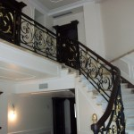 Wrought Iron Railing Black Color And Gold Favv Iron Luxury