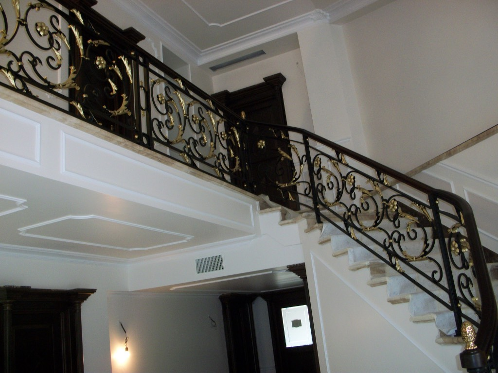 hight resolution of execution work descrition wrought iron railing