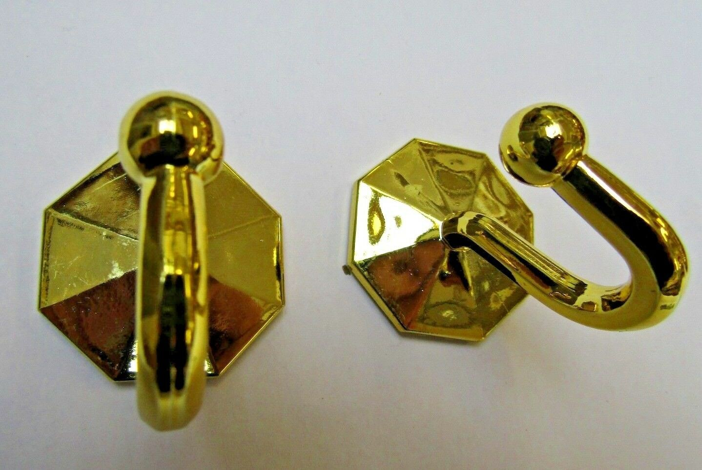 pack of 2 self adhesive hook gold