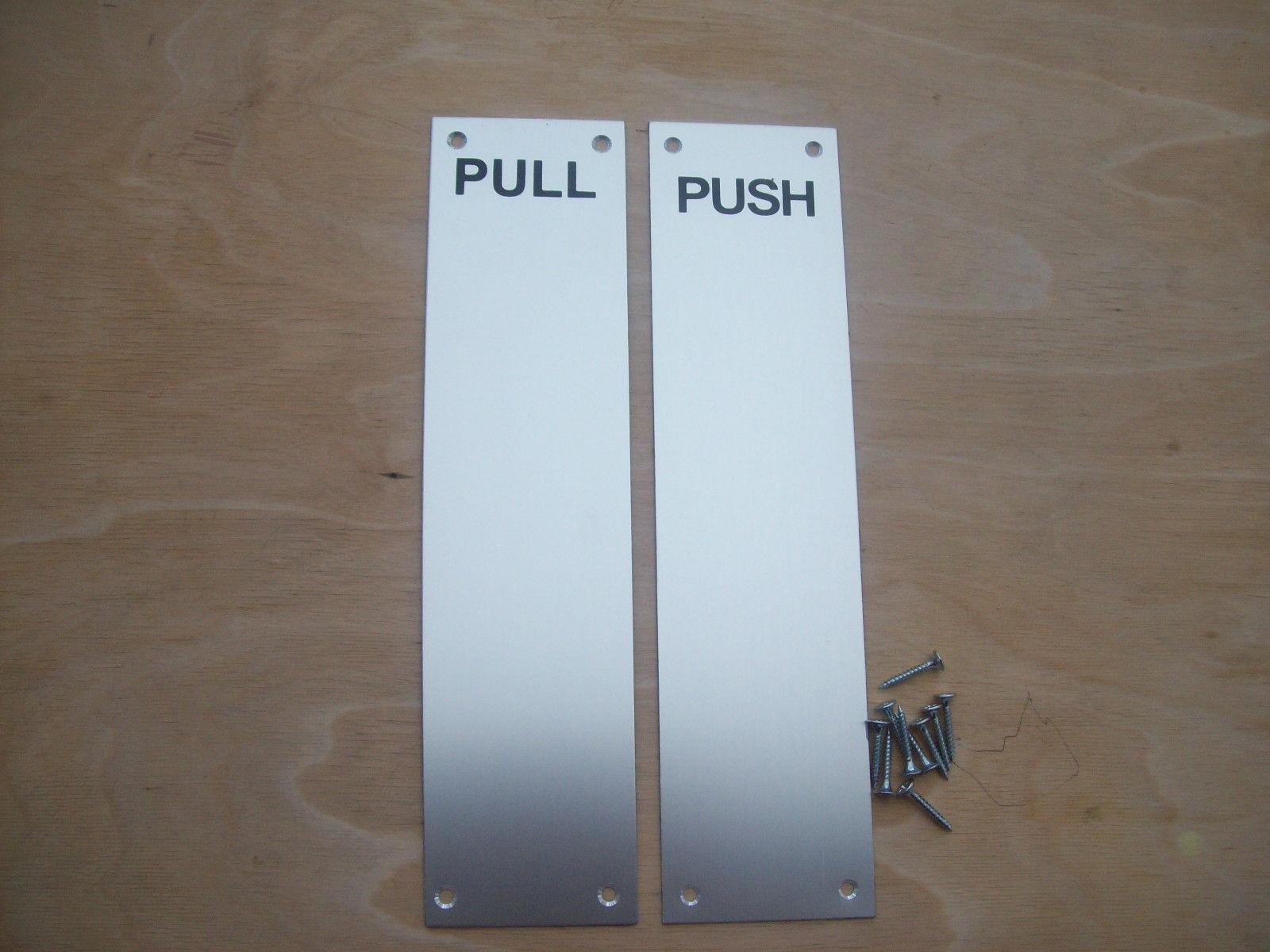 Aluminium push and pull plate  Ironmongery World