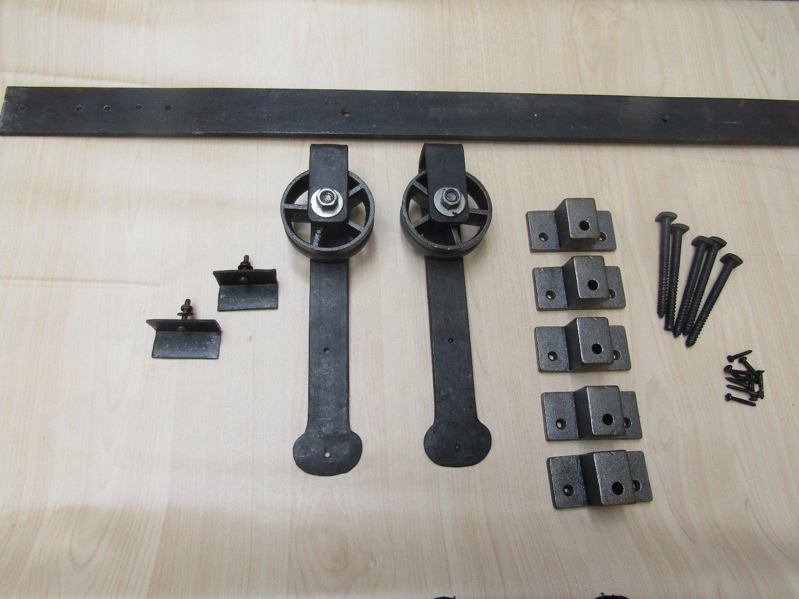 wrought iron vintage style barn strap sliding door kit