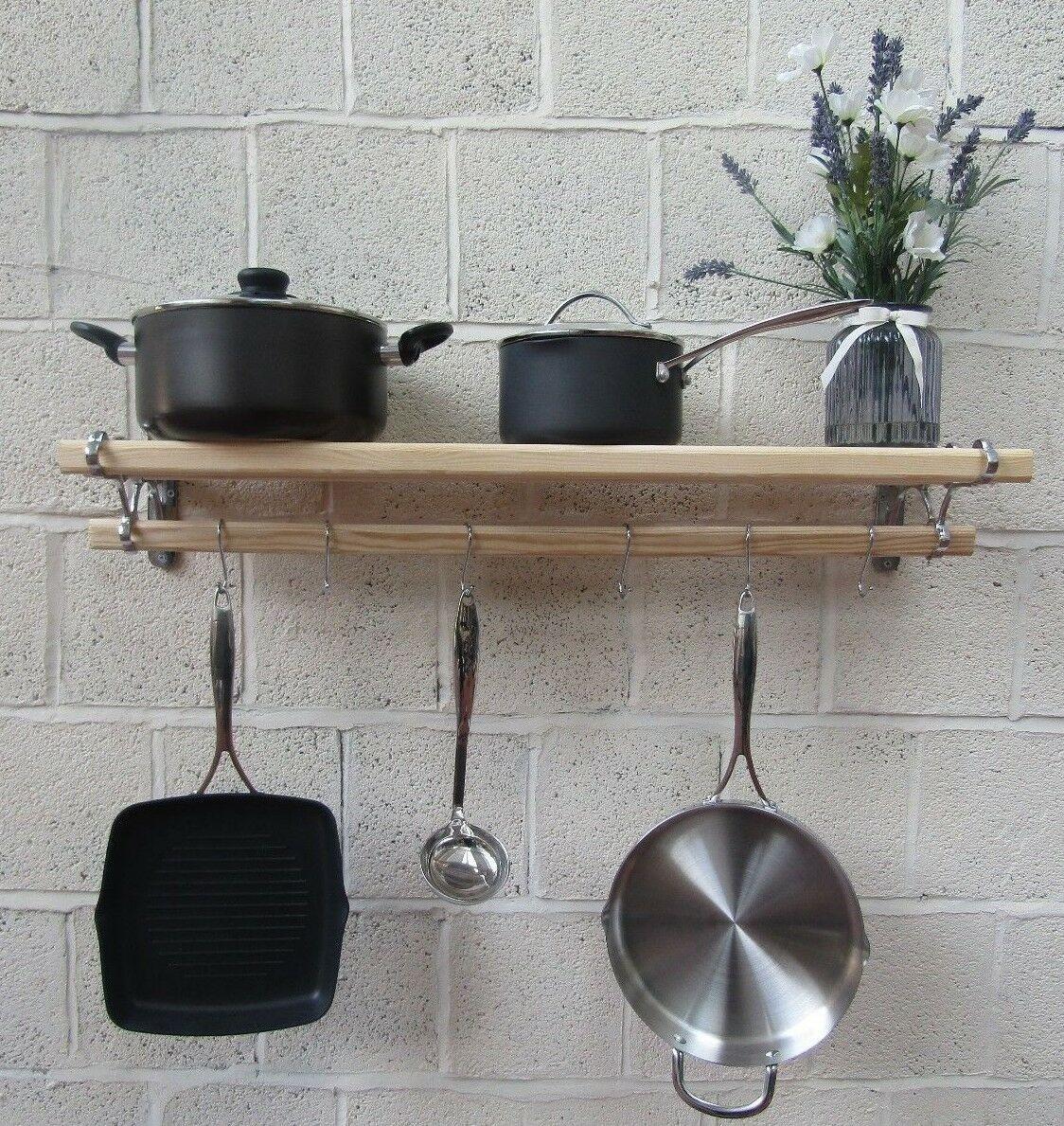 chrome on iron kitchen pot pan rack 1 2m