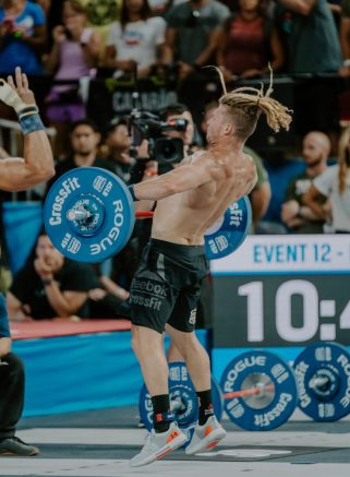 James Newbury in the UA HOVR Rise at the 2019 CrossFit Games