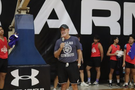 Ateneo Head Coach Tab Baldwin talks about the importance of offensive and defensive basketball formations to the aspiring UA 3x3 basketball athletes