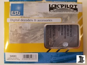ESU 54683 LokPilot Micro Decoder V4.0 MM DCC SX 8 Pin NEM652 Harness