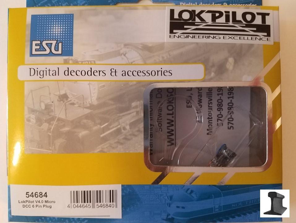 ESU 54613 decoder digitale LokPilot V4.0 DCC a 6 pin