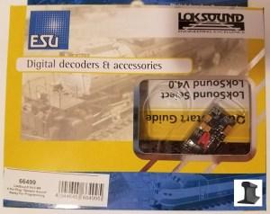 ESU 64499 LokSound V4.0 M4 With 21 Pin Plug & Speaker ~ Factory Sound