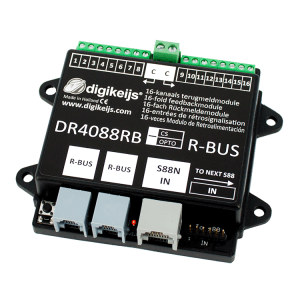 Digikeijs DR4088RB-CS ~ 16 Channel Occupancy Feedback For Roco ~ R-Bus & S88(N)
