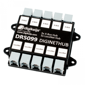 Digikeijs DR5099 DigiNetHub – 5 Way LocoNet & 5 Way X-Bus, ExpressNet Splitter Hub