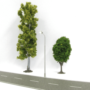 Digikeijs Street Lights – HO Scale – Single Light Warm White LED's With Resistors (4pcs)