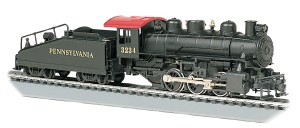 Bachmann HO Pennsylvania #3234 USRA 0-6-0 With Smoke