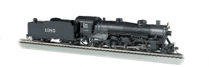 Bachmann HO Santa Fe #1385 4-6-2 Light Pacific W/Sound 52803
